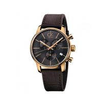 Men's Calvin Klein City Brown Leather Strap Watch