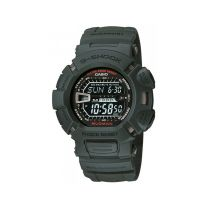 Casio Men's Black Dial Silicone Band Watch - G-9000-3VDR